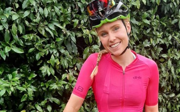 female, cyclist, smiling